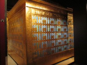 The outermost golden box holding King Tut's coffin. Copyright Deborah Abrams Kaplan