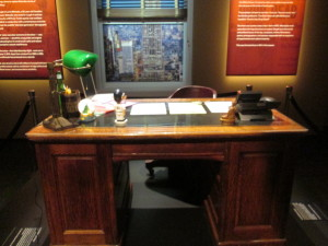 One of Loren Michael's two desks (he has offices on two different floors). Copyright Deborah Abrams Kaplan