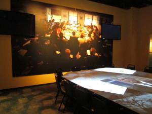 Getting an idea of what the read-through meeting looks like. Copyright Deborah Abrams Kaplan
