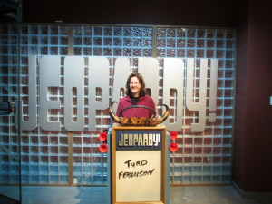 Look who is on the set of Jeopardy! Copyright Deborah Abrams Kaplan