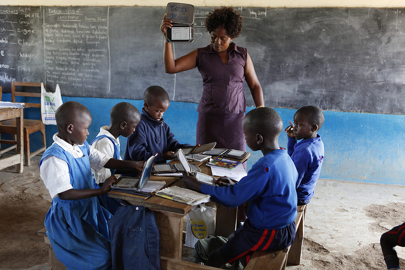 For every $10 donation, you get the chance to win a prize and these Kenyans can get access to e-readers. It's win-win! Photo courtesy of Worldreader.