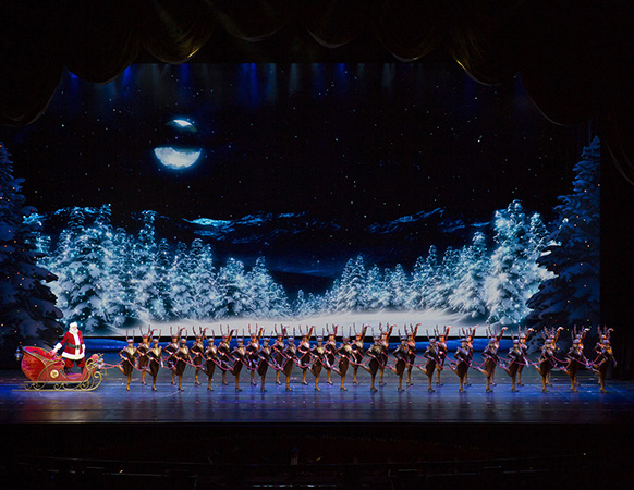 Santa's Reindeer - the Rockettes. Photo courtesy of the Rockettes.