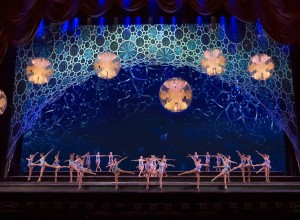 The Rockettes danced as drone-powered snowflakes floated around above the audience. Photo courtesy of the Rockettes.