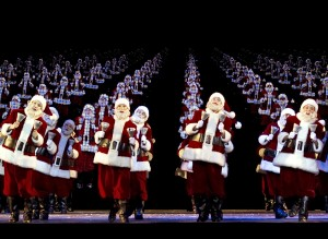 Dancing Santas. Photo courtesy of the Rockettes.