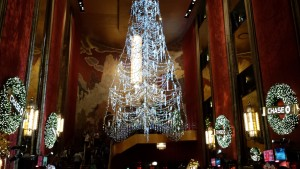 The interior of Radio City Music Hall's lobby area. Copyright Deborah Abrams Kaplan