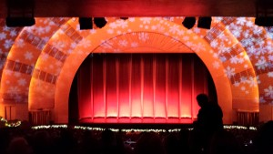 The gorgeous stage at Ratio City Music Hall. Copyright Deborah Abrams Kaplan