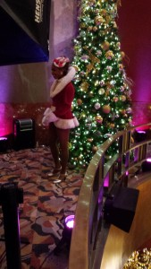Get your picture taken with a Rockette at the top of the staircase. Copyright Deborah Abrams Kaplan