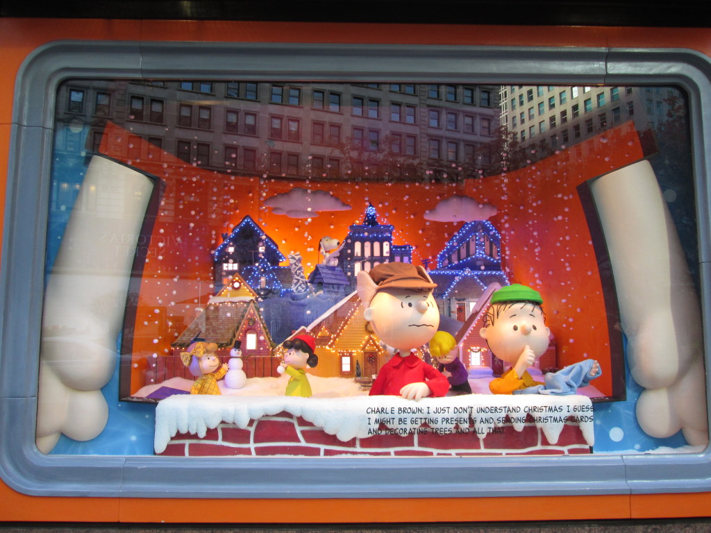 Macy's Peanuts windows in their 2015 display. Copyright Deborah Abrams Kaplan
