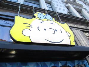 Macy's Peanuts windows in their 2015 display. Copyright Deborah Abrams Kaplan