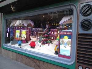 Another view of the last Macy's Peanuts windows in their 2015 display. Copyright Deborah Abrams Kaplan