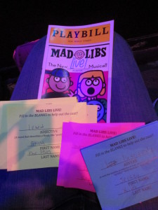 Before the show, you come up with words for them to use in the show. Copyright Deborah Abrams Kaplan