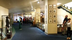 The Wicked lobby is a museum with Broadway artifacts including Joel Grey's gloves from Cabaret.