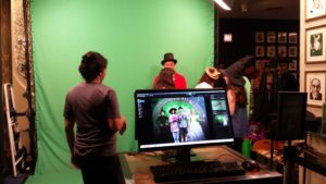 Photos with the Wicked green screen.