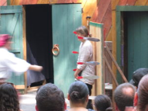Knife throwing at the NY Renaissance Faire. Copyright Deborah Abrams Kaplan