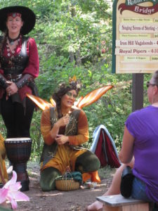 You can get your hair or make-up done at the NY Renaissance Faire. Copyright Deborah Abrams Kaplan