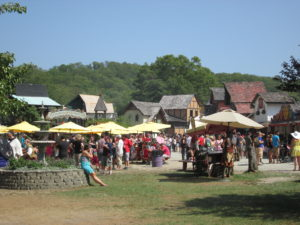 Lots of food for sale at the Renaissance Faire. Copyright Deborah Abrams Kaplan