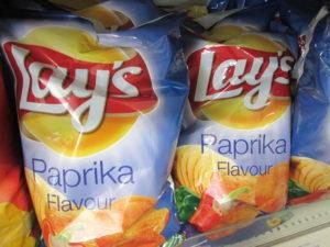 Paprika flavored snacks. Copyright Deborah Abrams Kaplan