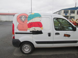 This company paints each van with a different design. Copyright Deborah Abrams Kaplan