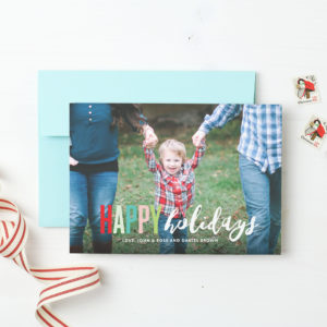 Holiday card from Basic Invite.
