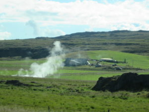 Geothermal area and farmland. Copyright Deborah Abrams Kaplan