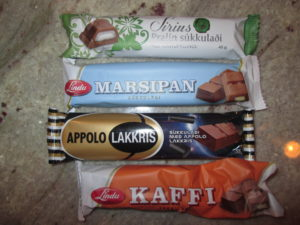 Icelandic candy bars. They love licorice there. Here's one that's chocolate-covered licorice. Copyright Deborah Abrams Kaplan
