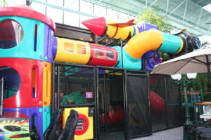 Part of the indoor play area at the Best Western