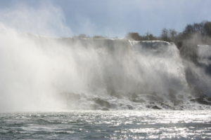 Another view of the American Falls with the mist.
