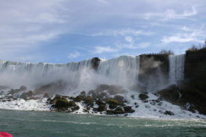 Our view of American Falls from the Hornblower boat ride.