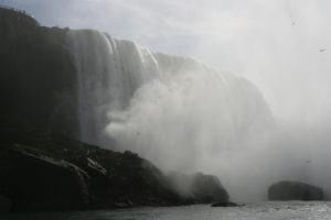 One edge of Horseshoe Falls, which has a lot more mist.