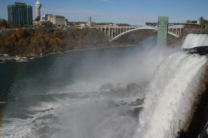 The American Falls and the Rainbow Bridge.
