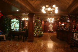 The inside of the Prince of Wales Hotel Niagara on the Lake was decorated for Christmas.