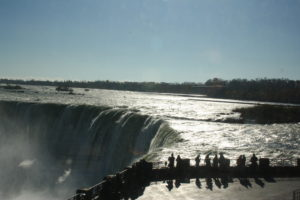 The view of Horseshoe Falls from the Canadian viewing area.