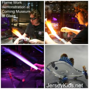 The Corning Museum of Glass has several flameworking demonstrations daily.