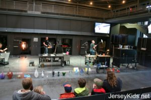 Glass studio demonstration.