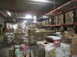 The CFBNJ warehouse