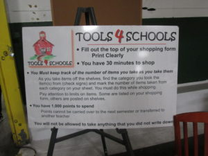 """Teachers can """"shop"""" for supplies for their classrooms."""