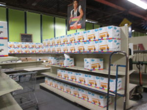 The classroom section of the CFBNJ where teachers can get school supplies for their classrooms.