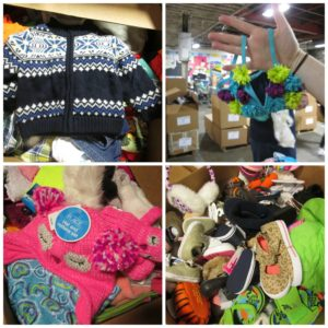 New clothing given away at the Community FoodBank of New Jersey