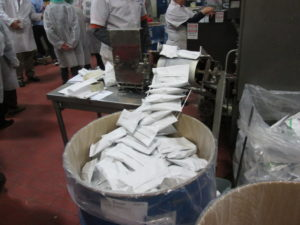 Latke mix at the Manischewitz factory